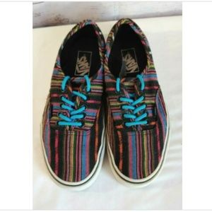 Vans Unisex Men 6.5 Women 8 Shoes Black Multicolor
